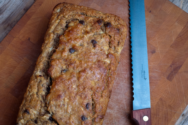 Choc chip banana bread on eatlivetravelwrite.com