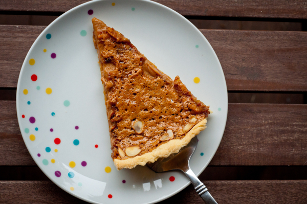 Dorie Greenspan Caramel Almond Tart on eatlivetravelwrite.com
