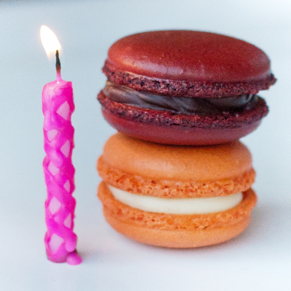 Happy Birthday macarons for Dorie Greenspan on eatlivetravelwrite.com