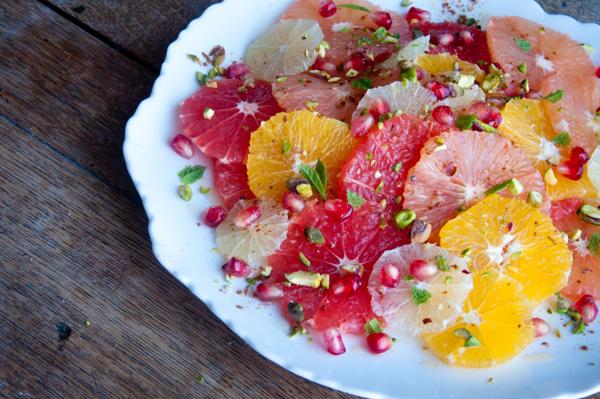 Moroccan citrus salad at Food Blogger Connect London on eatlivetravelwrite.com