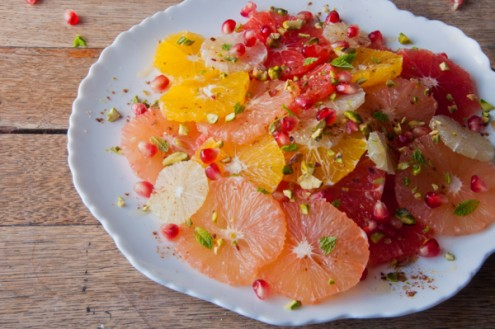 Moroccan Citrus Salad from The Jewelled Kitchen on eatlivetravelwrite.com