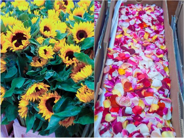 Flowers at Rungis market on eatlivetravelwrite.com