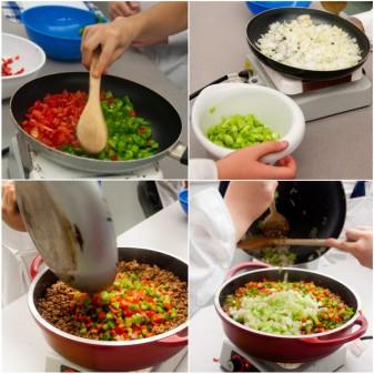Kids making filling for cassava pie on eatlivetravelwrite.com