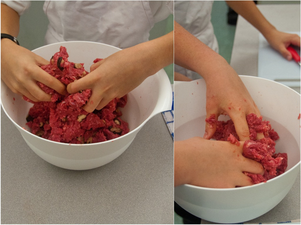 Kids mixing minced meat on eatlivetravelwrite.com