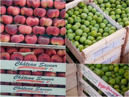 Peaches and plums at Rungis market on eatlivetravelwrite.com