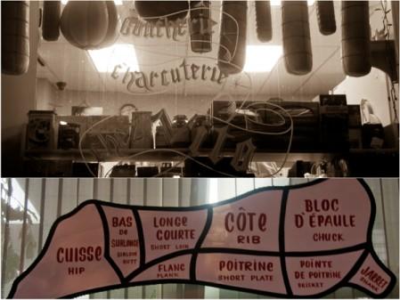 Butcher window Montreal on eatlivetravelwrite.com