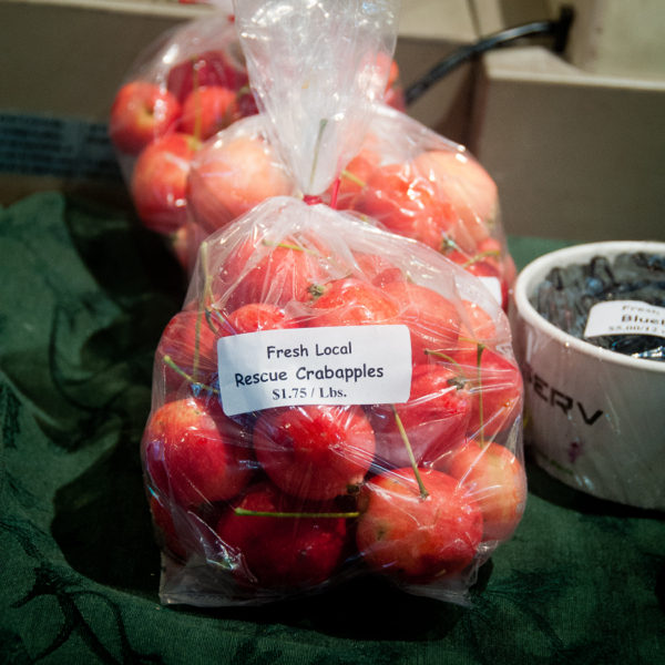 Fresh local crabapples at The Forks Market on eatlivetravelwrite.com