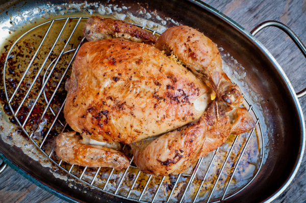 Dorie Greenspan Hurry up and Wait Roast Chicken on eatlivetravelwrite.com