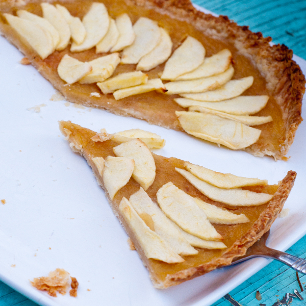 Salted caramel apple tart on eatlivetravelwrite.com