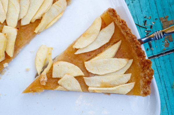 Apple tart with salted caramel on eatlivetravelwrite.com