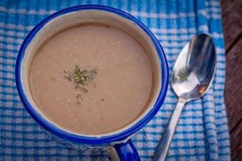 Dorie Greenspan chestnut pear soup on eatlivetravelwrite.com