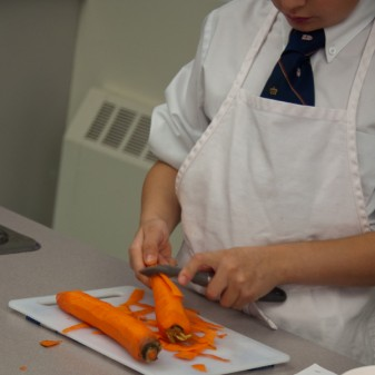 Kids peeling carrots on eatlivetravelwrite.com