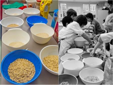 Les Petits Chefs making Mairlyn Smith's Breakfast Grab n Gos on eatlivetravelwrite.com