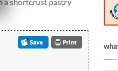 Save or Print button on eatlivetravelwrite.com recipes for Ziplist