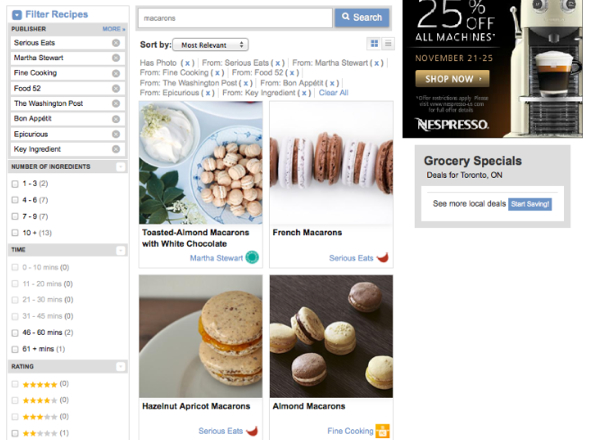 Search particular recipe on Ziplist eatlivetravelwrite.com