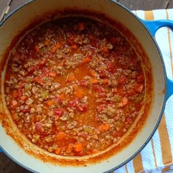 Marcella Hazan's ragu bolognese on eatlivetravelwrite.com