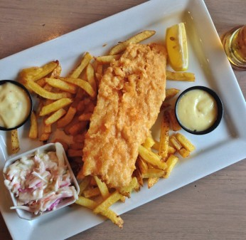 Fish and Chips at Bayside Brewery on eatlivetravelwrite.com