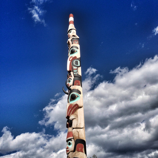 Totem pole in Jasper on eatlivetravelwrite.com