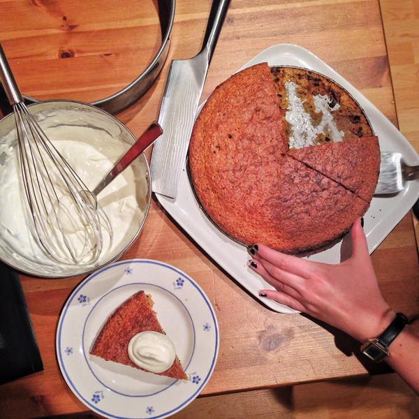 Marcella Hazan Amaretti chocolate cake on eatlivetravelwrite.com