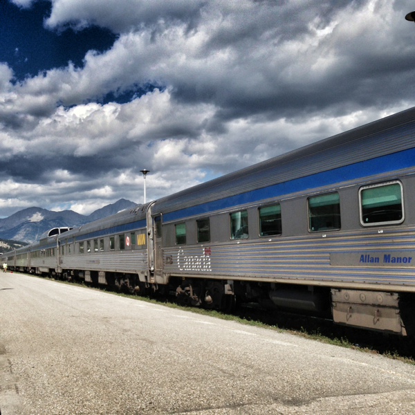 The VIARail Canadian in jasper on eatlivetravelwrite.com