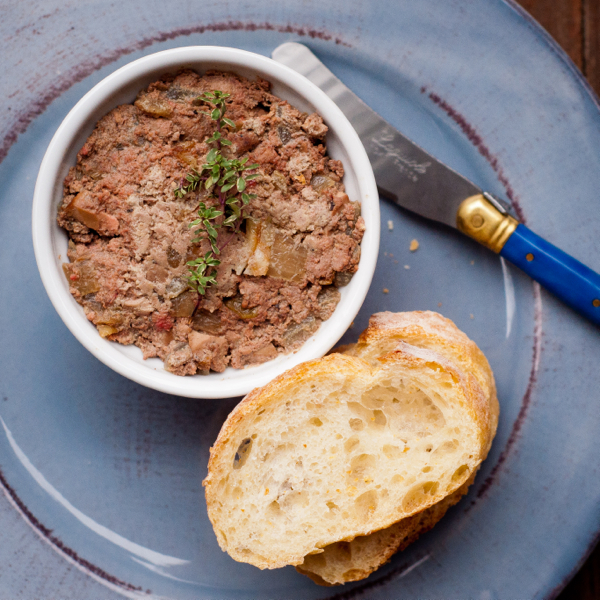 Mme Maman's chopped liver on eatlivetravelwrite.com