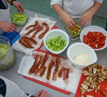 Constructing Caesar salad #savewithJamie on eatlivetravelwrite.com