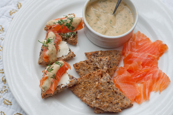 Dilled Gravlax with mustard sauce on eatlivetravelwrite.com