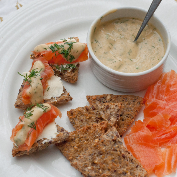 Dorie Greenspan's Dilled Gravlax with mustard sauce on eatlivetravelwrite.com