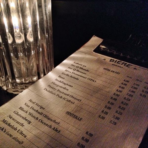 La Drinkerie menu Montreal on eatlivetravelwrite.com