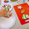 Kids decorating cookies for the holidays with Adell Shneer on eatlivetravelwrite.com