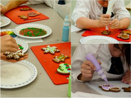 Kids decorating holiday cookies with Adell Shneer on eatlivetravelwrite.com