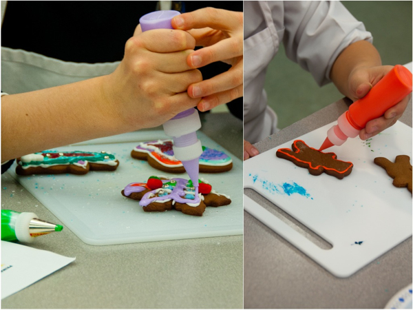 Kids decorating with royal icing on eatlivetravelwrite.com