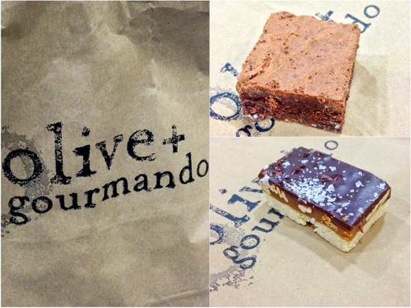 Olive and Gourmando brownie and turtle bar on eatlivetravelwrite.com