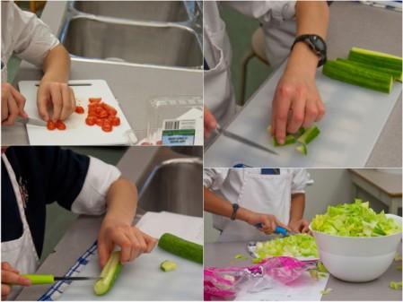 Prepping Caesar salad ingredients #savewithJamie on eatlivetravelwrite.com