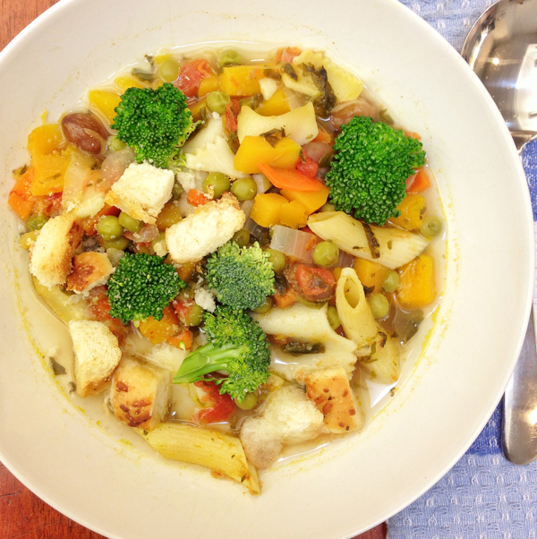 Happy frumpy minestrone #savewithJamie on eatlivetravelwrite.com