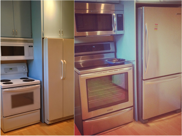 Before and after in the eatlivetravelwrite.com kitchen