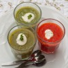 Asparagus, red pepper and broccoli soups on eatlivetravelwrite.com