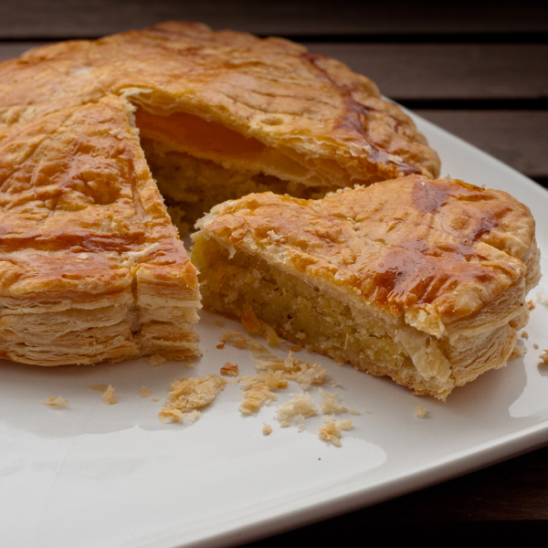 A slice of galette des rois on eatlivetravelwrite.com