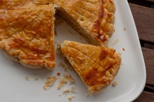 Galette des rois sliced on eatlivetravelwrite.com