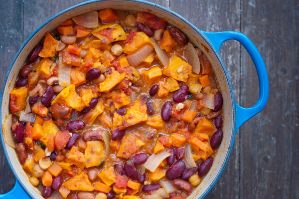 Sweet potato veggie chili on eatlivetravelwrite.com