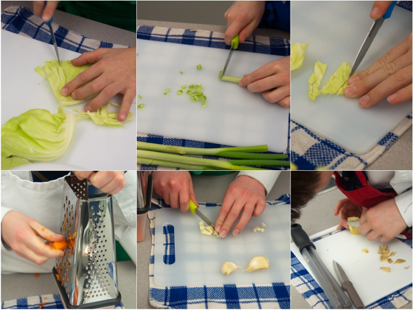 Kids cooking Jamie Oliver dumplings for Chinese New Year