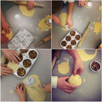 Kids making Jamie Oliver's mince and onion pies on eatlivetravelwrite.com