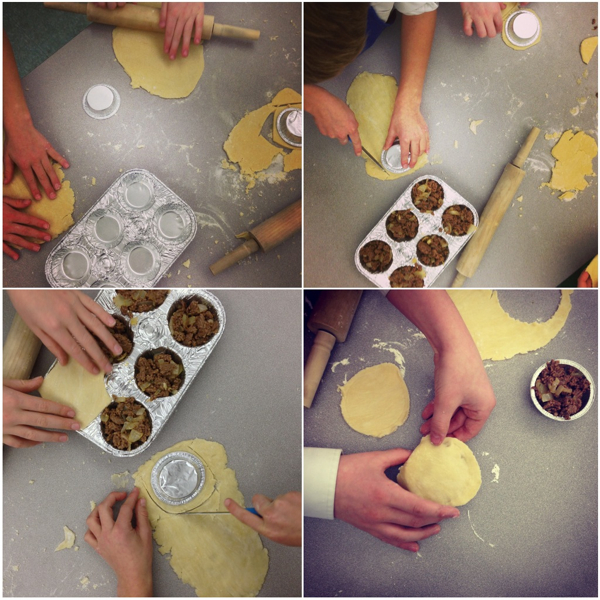 Kids making Jamie Oliver's mince and onion pies on eatlivetravelwrite.com