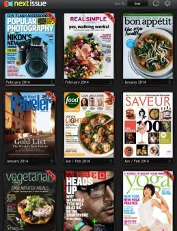 My Next Issue library on eatlivetravelwrite.com