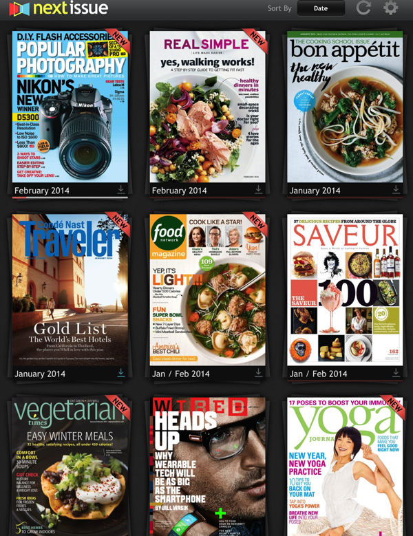 My Next Issue library on eatlivetravelwrite.com