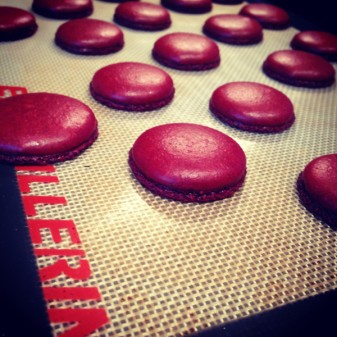 Macarons baked in the KitchenAid oven on eatlivetravelwrite.com