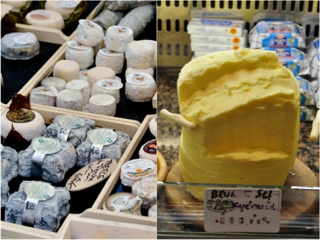 Cheese and butter at Paris markets on eatlivetravelwrite.com