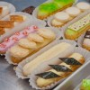 Decorated éclairs on