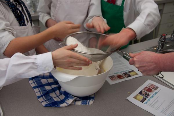 Sifting flour on eatlivetravelwrite.com