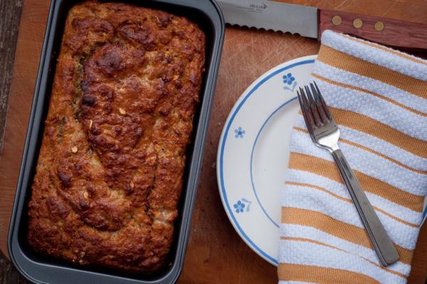 Banana bran bread on eatlivetravelwrite.com